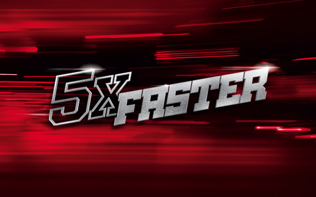 Five times faster on Virgin Media