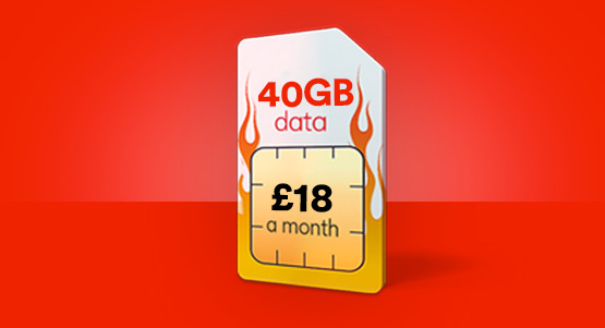 Get 40GB of data for just £18 a month