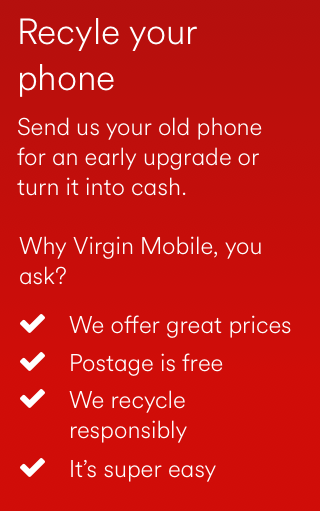 Recycle Your Phone | Mobile Trade In | Virgin Media