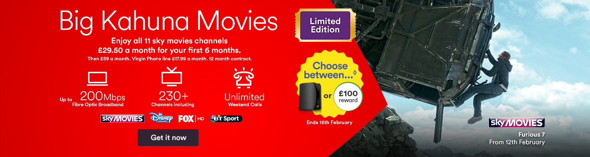 Bag all 11 Sky Movies channels for just &pound&#x3b;29.50 a month plus a reward