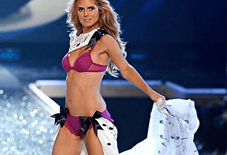 Heidi Klum, £100,000 scar on right leg.