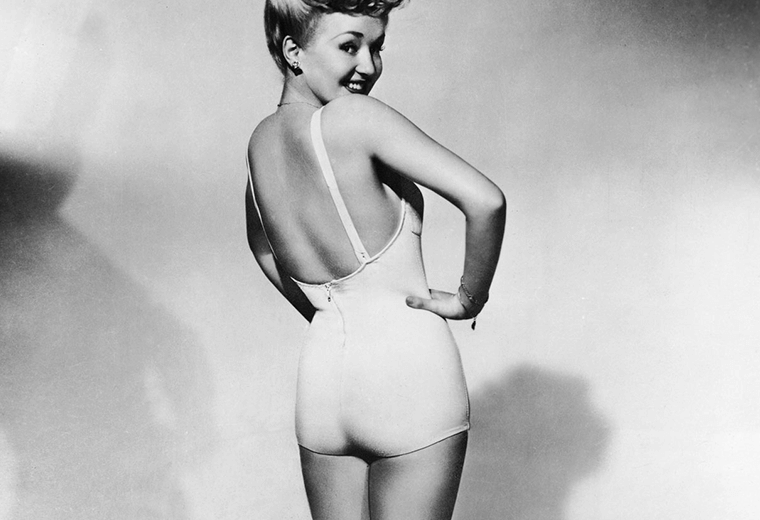 Betty Grable, the girl with million dollar legs.
