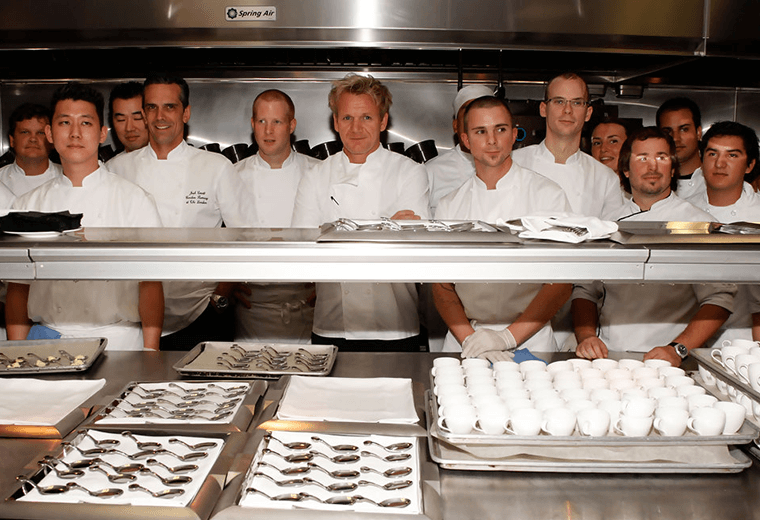 Staff at Restaurant Gordon Ramsay