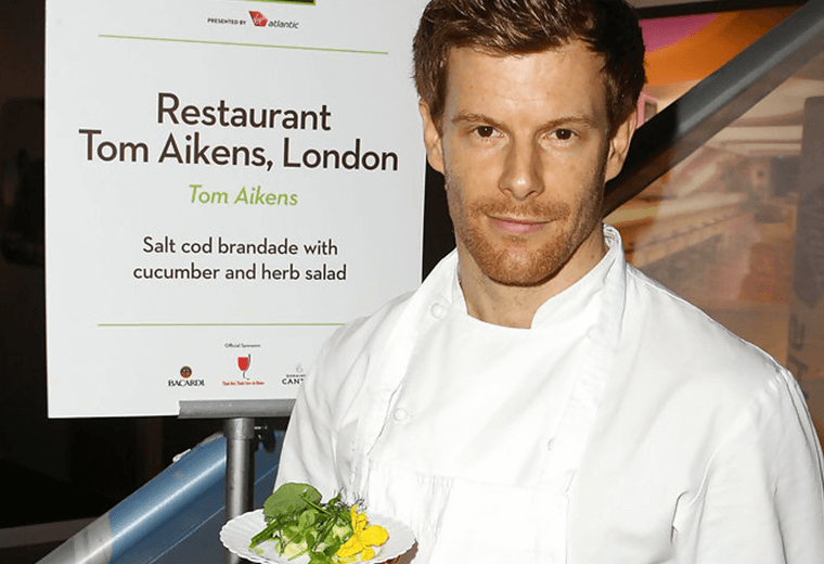 Tom Aikens in his chef whites