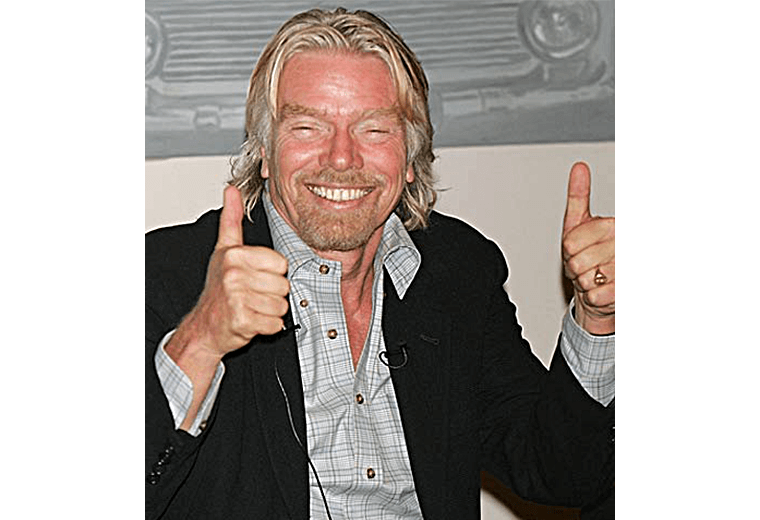 Richard Branson with thumbs up