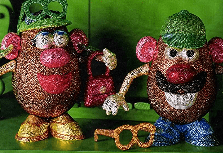 A pair of blinging spuds.