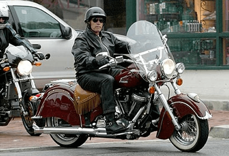 Arnie on a motorcycle
