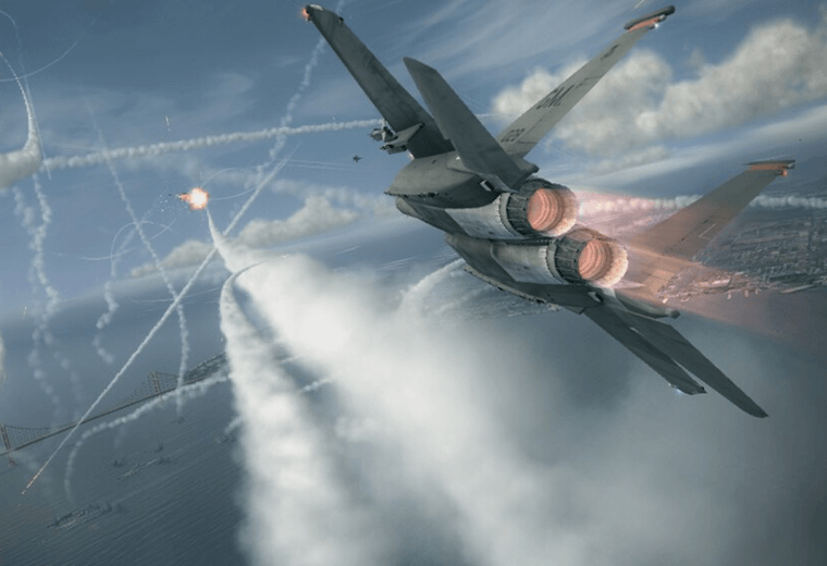 Ace Combat: puts you in the pilot seat of a jet fighter.