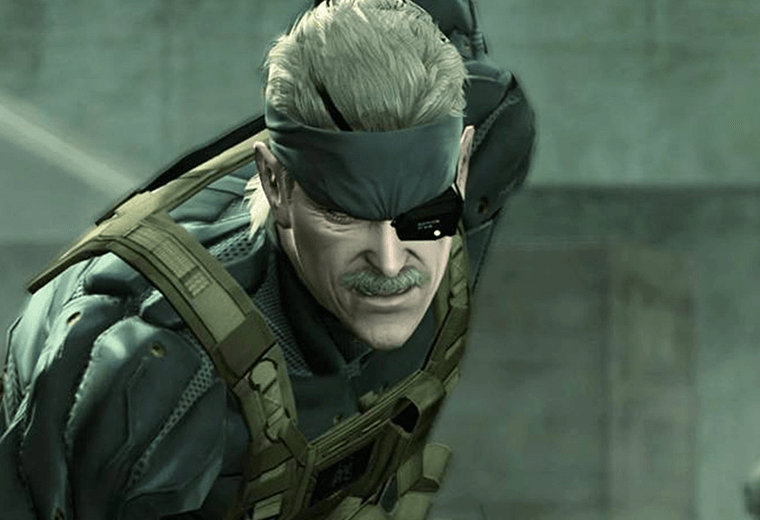 Video still of a male character in Metal Gear Solid 4 game