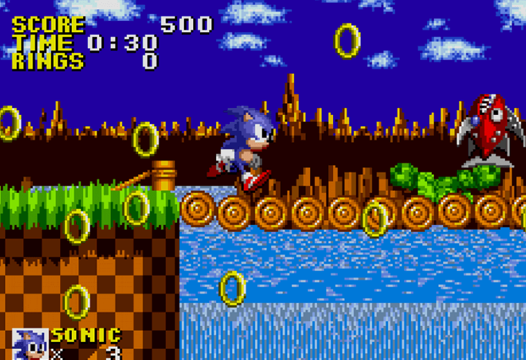 Video still from Sonic the Hedgehog