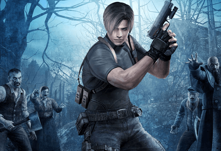 Character hold a gun in Resident Evil 4