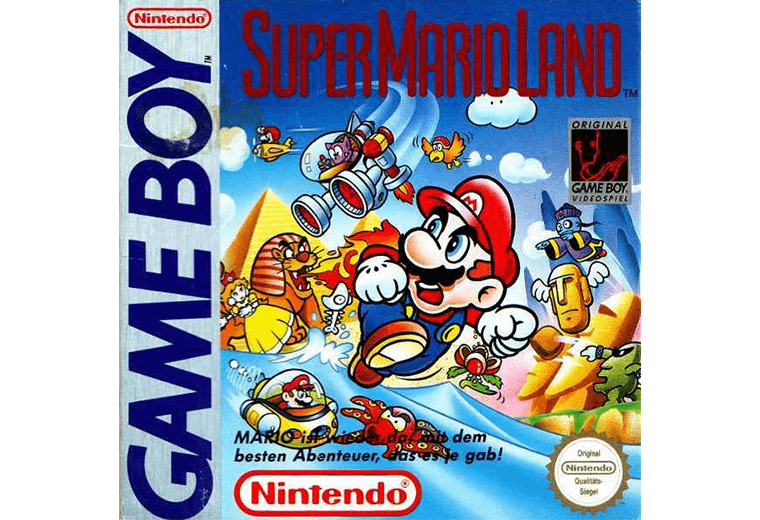 Gameboy's Super Mario Land game cover artwork