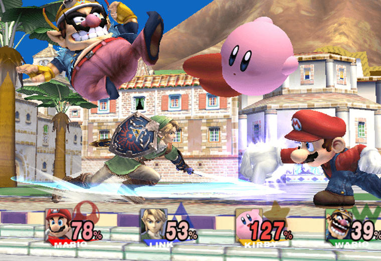 Video still from Super Smash Bros. game