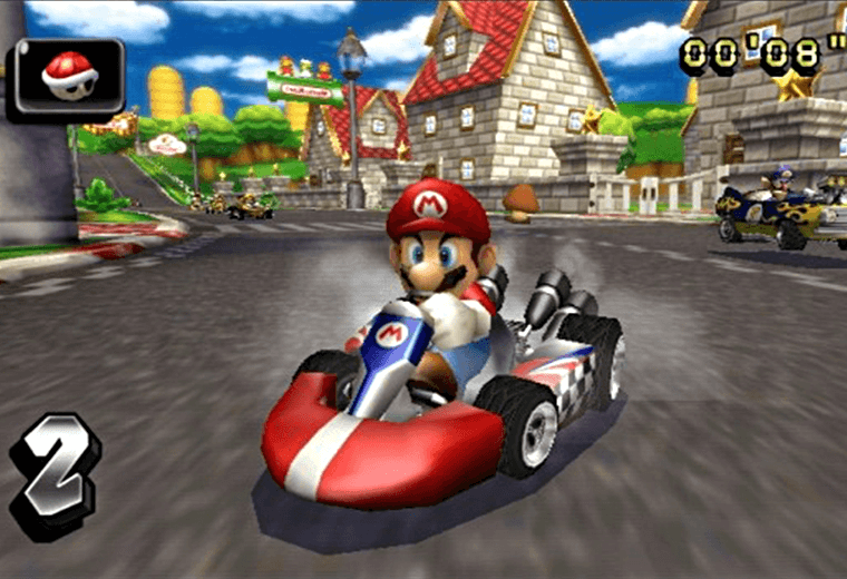 Video still from Wii's Mario Kart game