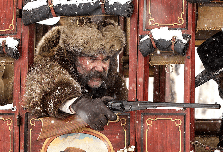 Kurt Russell in Tarantino's The Hateful Eight.