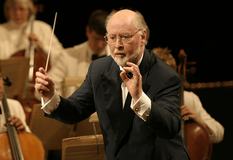 John Williams scoring Star Wars: The Force Awakens.