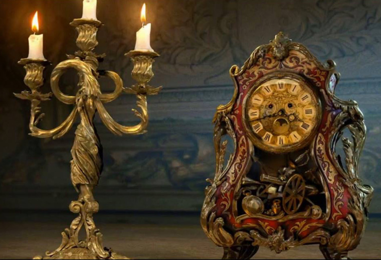 Look at Cogsworth's cog-filled belly! Beauty And The Beast - 17 Mar