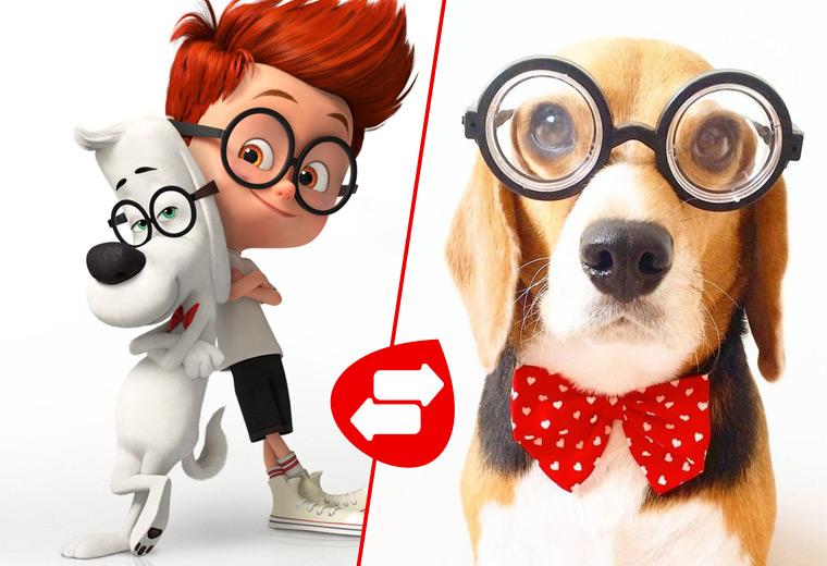 Clip Art Mr Peabody beagle Source Pinterest Virgin Media Cartoon Dogs Their Reallife Counterparts Virgin Media