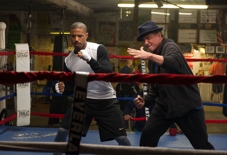 Sylvester Stallone's Rocky steps back into the ring to mentor promising fighter Adonis Creed (Michael B. Jordan)
