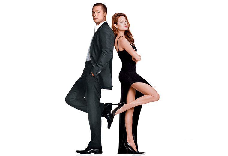 Brad & Angelina fell in love on the set of Mr & Mrs Smith.