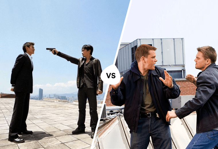 Internal Affairs (2002) vs The Departed (2006)
