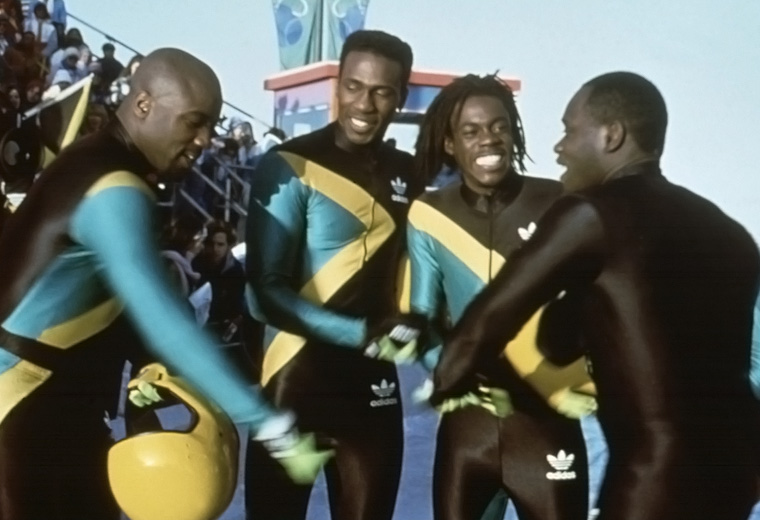 The Jamaican bobsleigh team go for comedy gold