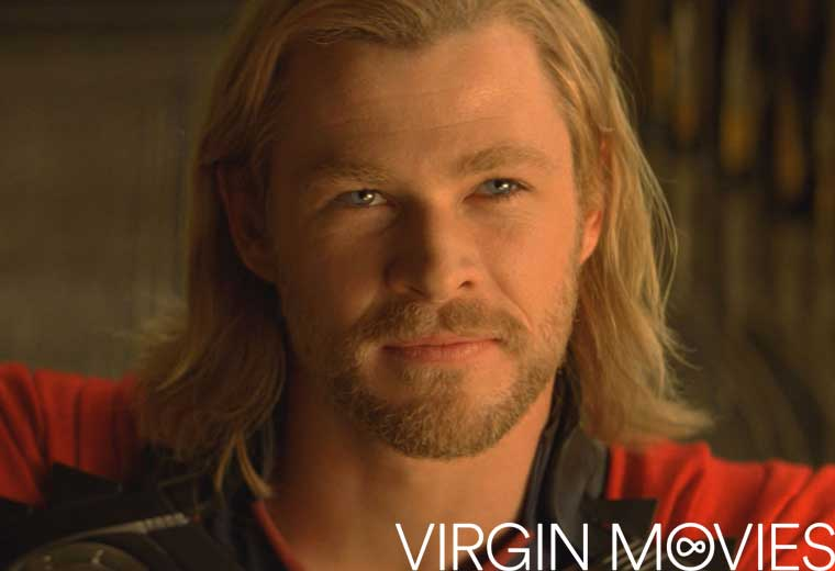 Watch Chris Hemsworth as mighty Asgardian god Thor, available now on Virgin Movies