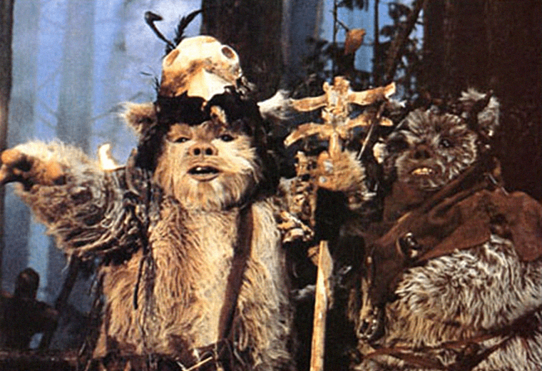The Ewoks were armed with rudimentary weapons but clever tactics.