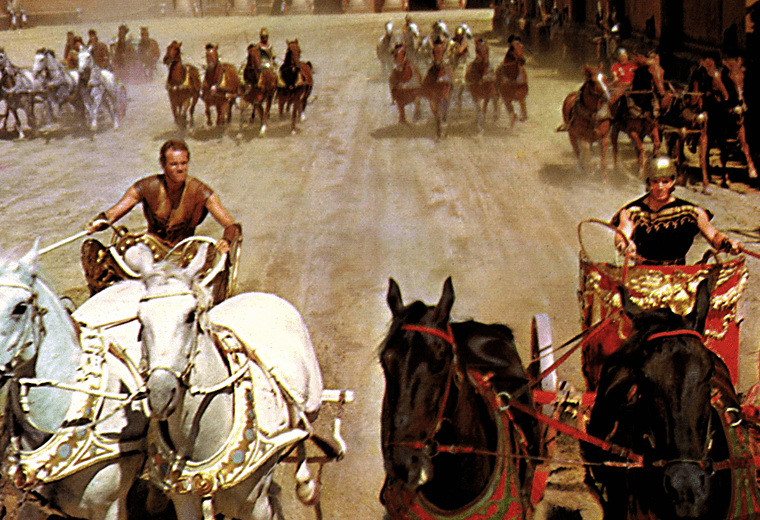 The chariot race &ndash&#x3b; Ben-Hur (1959)