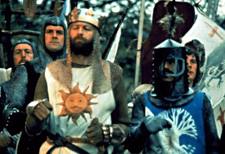 King Arthur vs The Black Knight – Monty Python and the Quest for the Holy Grail (1975)