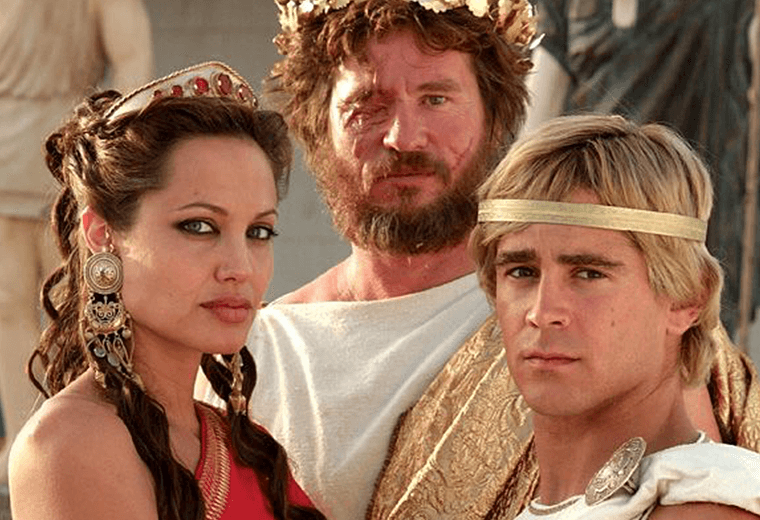 Colin Farrell as Alexander, with a shockingly awful barnet.