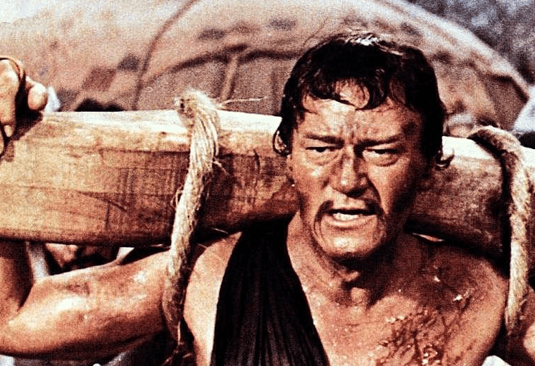 John Wayne as Genghis Khan, the most spectacular example of miscasting.