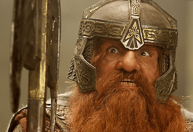Gimli, a beard with a little angry man attached.