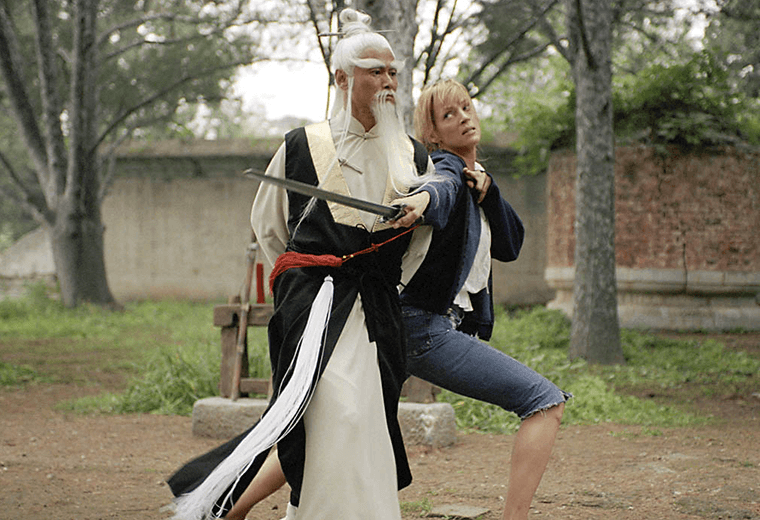 Every inch the ancient kung-fu master.