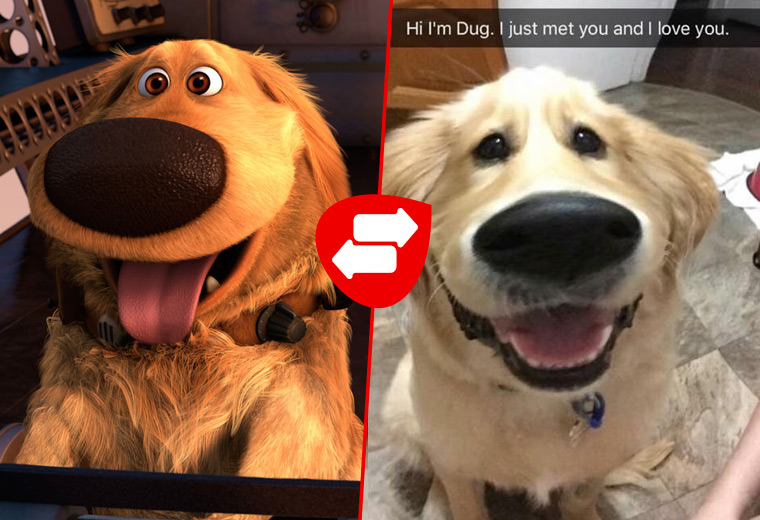 Cartoon dogs & their real life counterparts