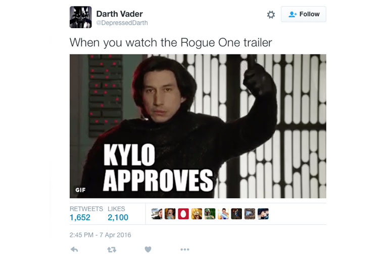 The best twitter reactions to the Rogue One trailer