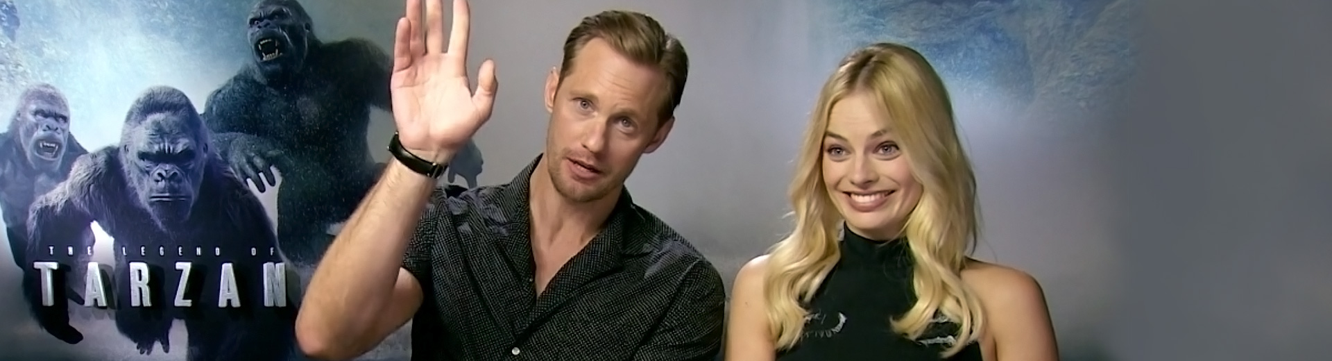 Exclusive interview with Alexander Skarsgård and Margot Robbie