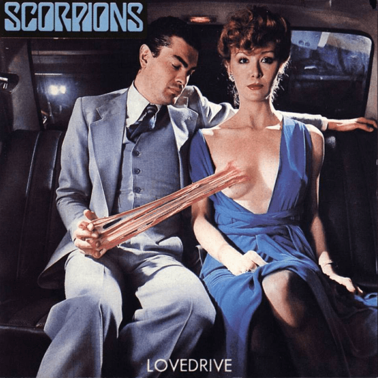 Scorpions Lovedrive, a questionable album cover.