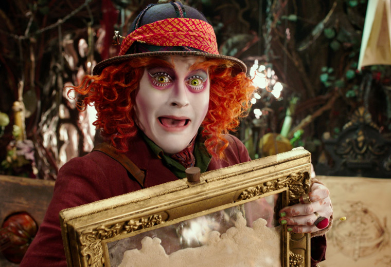 Alice discovers there's something the matter with The Hatter (Johnny Depp)