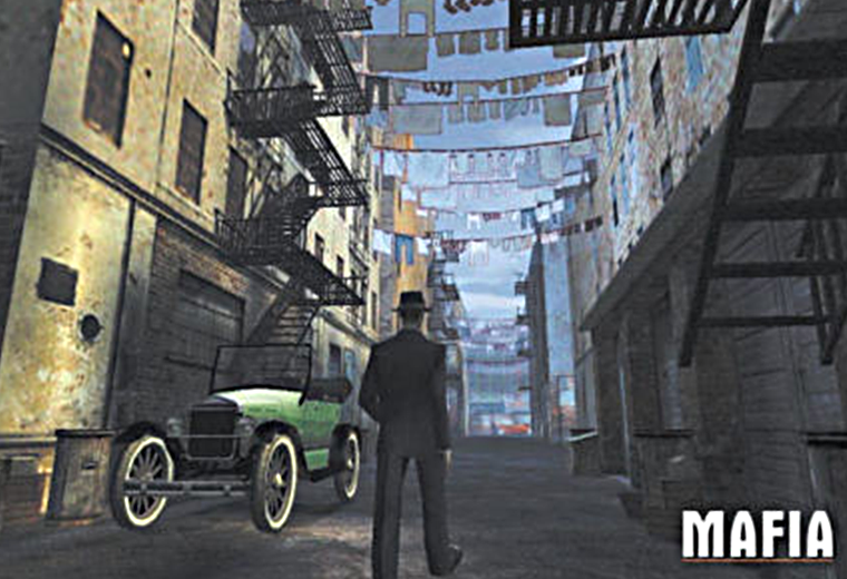 Screengrab of gangster-themed videogame Mafia