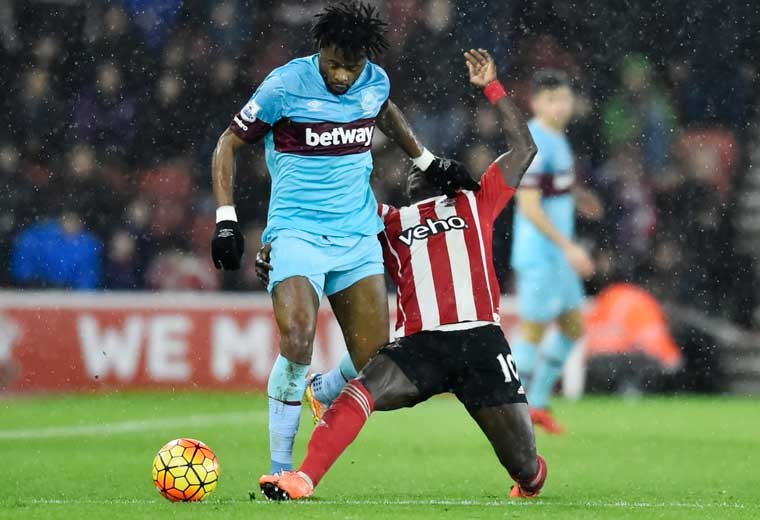 Alex Song won 43% of tackles in the Premier League last season, whilst on loan at West Ham United.