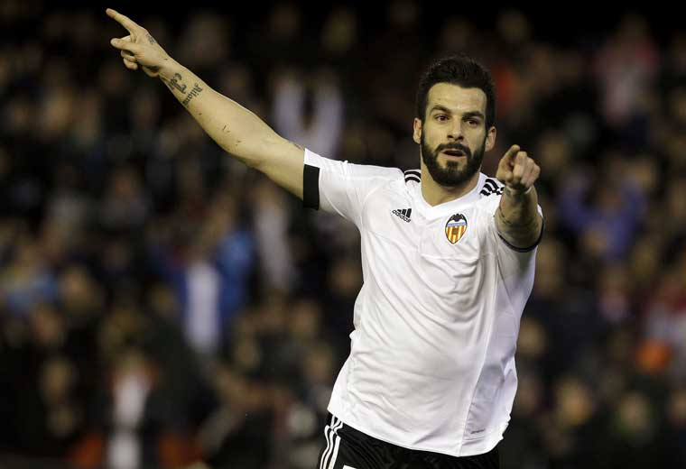 Alvaro Negredo scored five goals in 25 La Liga appearances for Valencia last season.
