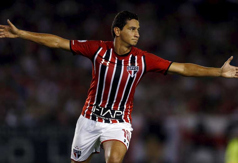 Ganso has scored once a created 18 chances for Sao Paulo this season.