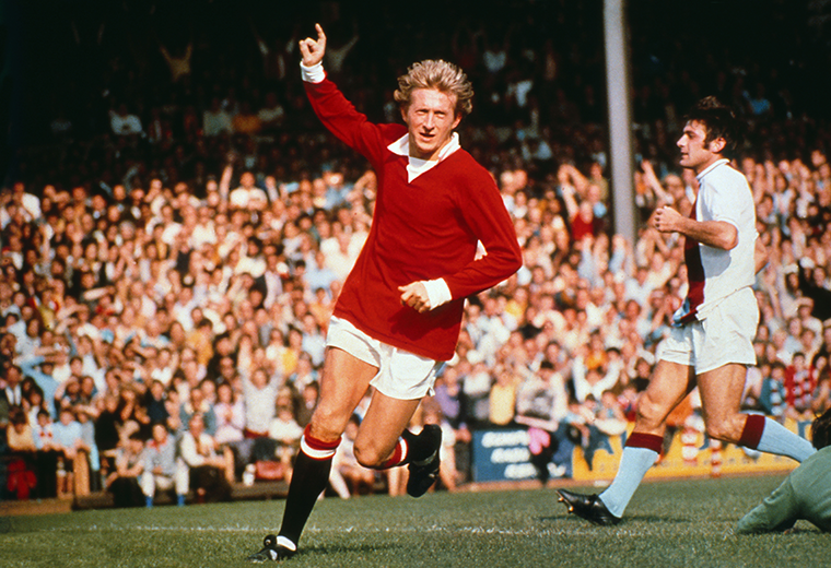 Denis Law is remembered as the man who downed his old club.