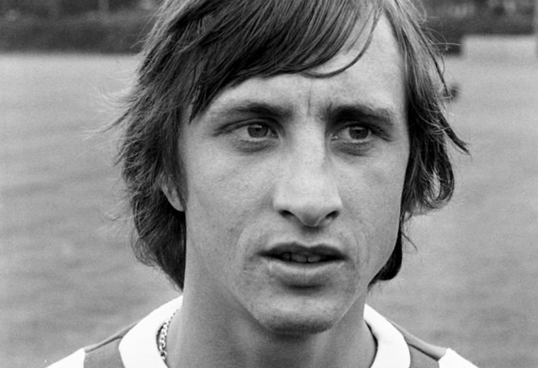 Cruyff helped Feyenoord win a league-cup double.