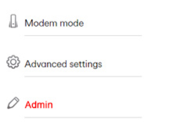 Select admin and then Change password