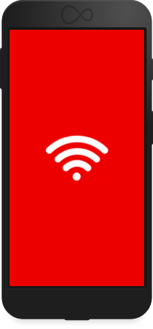 Wifif icon on mobile phone