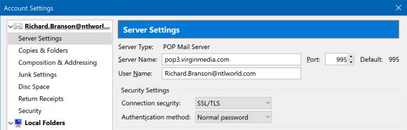 Updating Virgin Media Mail In Mozilla Thunderbird | Virgin Media