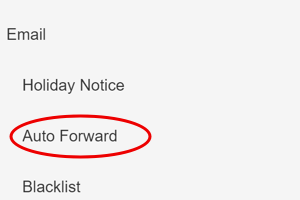 Select Auto Forward