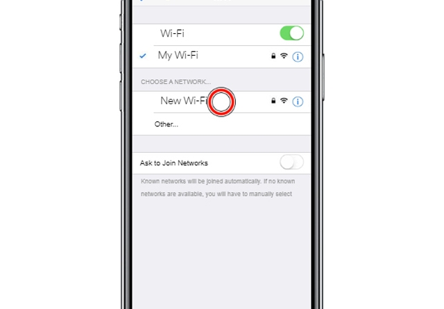 Tap the Wi-Fi network you'd like to connect too